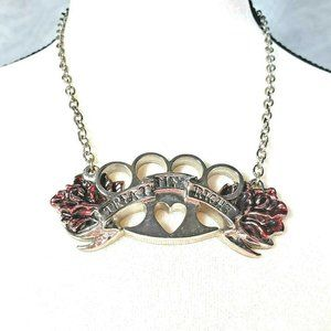 TREAT ME RIGHT Knuckle Duster Pendant Necklace